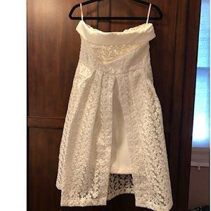 NWT NY&CO WHITE LACE DRESS.